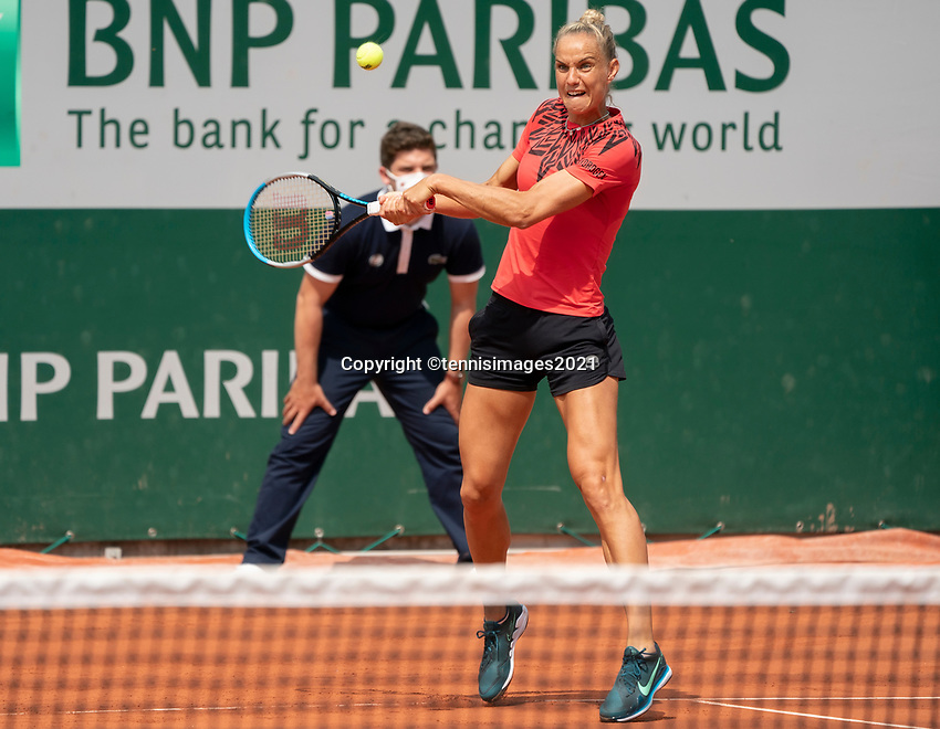 Paris, France, 2 june 2021, Tennis, French Open, Roland Garros, First round womans doubles match: Arantxa Rus (NED) <br /> Photo: tennisimages.com