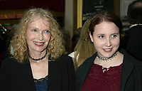 """Mia Farrow and daughter Dylan Farrow arriving at the opening night performance of """"Gypsy"""" at The Shubert Theatre in New York City on May 1, 2003.  Photo Credit: Henry McGee/MediaPunch"""