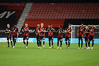 delight from the AFC Bournemouth players as they will the penalty shootout 11-10 during AFC Bournemouth vs Crystal Palace, Carabao Cup Football at the Vitality Stadium on 15th September 2020