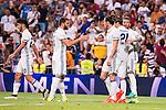 Real Madrid's player Asensio, Nacho, Gareth Bale, Alvaro Morata and Sergio Ramos during the XXXVII Santiago Bernabeu Trophy in Madrid. August 16, Spain. 2016. (ALTERPHOTOS/BorjaB.Hojas)