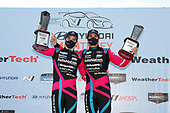 Winners #86 Meyer Shank Racing w/Curb-Agajanian Acura NSX GT3, GTD: Mario Farnbacher, Matt McMurry, podium