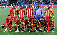 Ghana Starting Eleven. Ghana defeated the USA 2-1 in overtime in the 2010 FIFA World Cup at Royal Bafokeng Stadium in Rustenburg, South Africa on June 26, 2010.