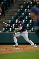 Binghamton Rumble Ponies Jason Krizan (14) at bat during an Eastern League game against the Richmond Flying Squirrels on May 29, 2019 at The Diamond in Richmond, Virginia.  Binghamton defeated Richmond 9-5 in ten innings.  (Mike Janes/Four Seam Images)