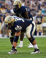 Pitt offensive lineman Chris Jacobson. The Pittsburgh Panthers beat the Buffalo Bulls 35-16 at Heinz field in Pittsburgh, Pennsylvania on September 3, 2011