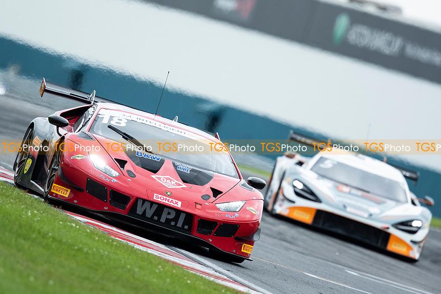 Michael Igoe & Phil Keen, Lamborghini Huracan GT3 EVO, WPI Motorsport exit Goddards into Wheatcroft Straight during the British GT & F3 Championship on 10th July 2021