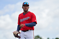 FCL Twins outfielder Emmanuel Rodriguez (4) during a game against the FCL Boston Red Sox on July 3, 2021 at CenturyLink Sports Complex in Fort Myers, Florida.  (Mike Janes/Four Seam Images)