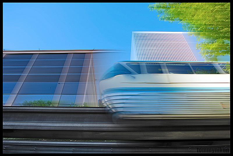 Monorail, downtown Seattle.