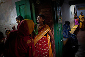 Pregnant women share a lighter moment while they wait to meet the doctors during the OPD in Duncan Hospital in Raxaul of East Champaran district of Bihar, India. Photograph: Sanjit Das/Panos for Legatum Foundation