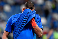 Gianluigi Donnarumma of Italy reacts during the warm up prior to the Qatar 2022 world cup qualifying football match between Italy and Lithuania at Citta del tricolore stadium in Reggio Emilia (Italy), September 8th, 2021. Photo Andrea Staccioli / Insidefoto