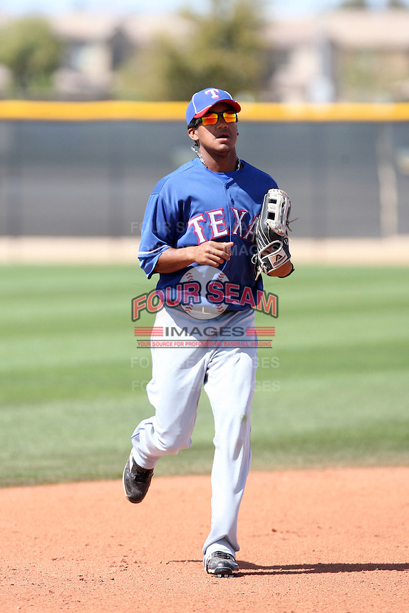 Teodoro Martinez, Texas Rangers 2010 minor league spring training..Photo by:  Bill Mitchell/Four Seam Images.