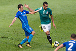 SC Kitchee Defender Daniel Cancela Rodriguez (R) in action against Lugo Michel Antunes of Long Lions (R) during the Community Cup match between Kitchee and Eastern Long Lions at Mong Kok Stadium on September 23, 2017 in Hong Kong, China. Photo by Marcio Rodrigo Machado / Power Sport Images