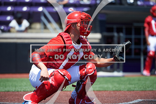 Will Banfield (11) of Brookwood High School in Lawrenceville, Georgia during the Under Armour All-American Game practice presented by Baseball Factory on July 28, 2017 at Rocky Miller Park in Evanston, Illinois.  (Mike Janes/Four Seam Images)