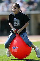 May 12, 2009:  Fans of the Rochester Red Wings, International League Class-AAA affiliate of the Minnesota Twins, participate in an on-field promotion during a game at Frontier Field in Rochester, FL.  Photo by:  Mike Janes/Four Seam Images