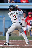 Tri-City ValleyCats second baseman Neiko Johnson #3 during a game against the Batavia Muckdogs at Dwyer Stadium on July 14, 2011 in Batavia, New York.  Batavia defeated Tri-City 6-3.  (Mike Janes/Four Seam Images)