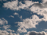 White clouds and blue sky<br />