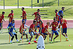 Spanish players during the second training of the concentration of Spanish football team at Ciudad del Futbol de Las Rozas before the qualifying for the Russia world cup in 2017 August 30, 2016. (ALTERPHOTOS/Rodrigo Jimenez)
