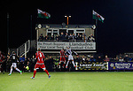 Llandudno 2 Denbigh Town 2, 20/03/2015. Maesdu Park, Huws Gray Alliance Football League. Llandudno launch an attack in front of the press box. Needing a win to guarantee promotion to the top division of Welsh football for the first time, Llandudno took the lead twice, but were held to a draw against Denbigh Town.<br /> Llandudno installed an artificial 3G pitch in 2014. The pitch is available for hire, and enables to club to have an active community programme, and teams in every age range, all playing at Maesdu Park. Photo by Paul Thompson.