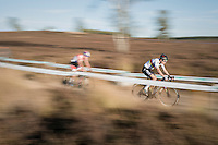 World Champion Wout Van Aert (BEL/Crelan-Vastgoedservice) leading the race ahead of Dutch Champion Mathieu Van der Poel (NED/Beobank-Corendon)<br /> <br /> CX Superprestige Zonhoven 2016