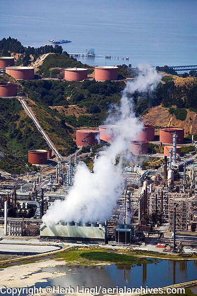 aerial photograph of the Chevron Richmond Refinery, Richmond, California