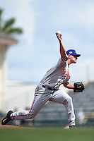 St. Lucie Mets pitcher Mike Hepple (40) delivers a pitch during a game against the Bradenton Marauders on April 12, 2015 at McKechnie Field in Bradenton, Florida.  Bradenton defeated St. Lucie 7-5.  (Mike Janes/Four Seam Images)