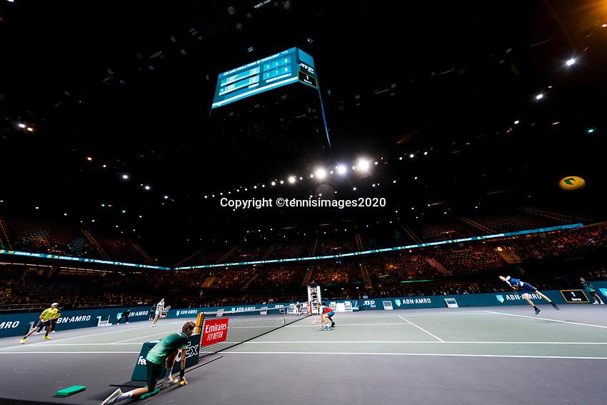Rotterdam, The Netherlands, 14 Februari 2020, ABNAMRO World Tennis Tournament, Ahoy, Doubles: Henri Kontinen (FIN) and Jan-Lennard Struff (GER), Jamie Murray (GBR) and Neal Skupski (GBR).<br /> Photo: www.tennisimages.com