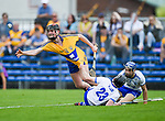 William Halpin of Clare  in action against Sean Henley of Waterford during their Munster  championship round robin game at Cusack Park Photograph by John Kelly.