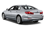 Car pictures of rear three quarter view of a 2018 BMW 5 Series Sport 4 Door Sedan angular rear