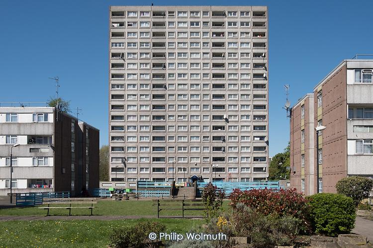 Exeter Court, sceduled for demolition, South Kilburn Estate, London Borough of Brent.