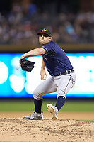 Toledo Mud Hens relief pitcher Paul Voelker (11) in action against the Charlotte Knights at BB&T BallPark on June 22, 2018 in Charlotte, North Carolina. The Mud Hens defeated the Knights 4-0.  (Brian Westerholt/Four Seam Images)