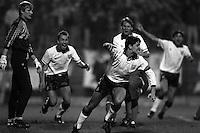 Pix:Michael Steele/SWpix...International Soccer. Poland v England, Poznan, 1991...COPYRIGHT PICTURE>>SIMON WILKINSON..Gary Linekar scores for England.