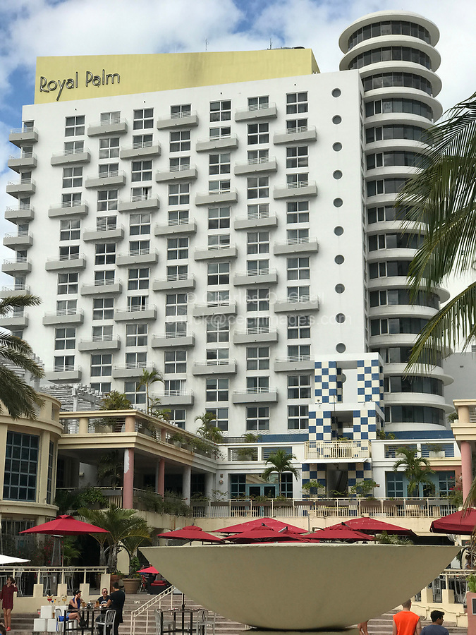 Miami Beach, Florida.  The Royal Palm Hotel, South Beach.