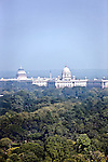 June 21 2012, New Delhi, India:  An aerial view of New Delhi showing the city's Parliament buildings set amid lush greenery of the surrounding parklands.        Picture by Graham Crouch/Holland Herald