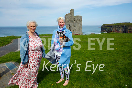 Ballybunion Arts Festival: pictureed to announce the upcoming Ballybunion Arts festival to be held on the 9th t0 the 12th of September were organisers Marion Relihan and her daughter Kate Bridget O'Brien with dog Patsy Cline.