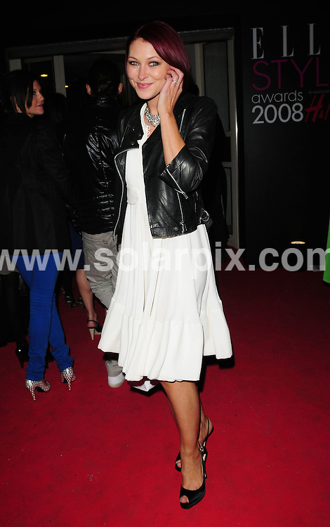 **ALL ROUND PICTURES FROM SOLARPIX.COM**.**WORLDWIDE SYNDICATION RIGHTS**.Departures from the Elle Style Awards.  Held at the Westway Sports Centre, London. 12th February 2008...This pic: Emma Griffiths..JOB REF: 5775 SSD     DATE: 12_02_2008.**MUST CREDIT SOLARPIX.COM OR DOUBLE FEE WILL BE CHARGED* *UNDER NO CIRCUMSTANCES IS THIS IMAGE TO BE REPRODUCED FOR ANY ONLINE EDITION WITHOUT PRIOR PERMISSION*