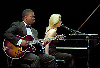 Montreal (Qc) CANADA, June 30 1997-<br /> Diana Krall in concert at the<br /> Montreal Jazz Festival<br /> -Photo (c)  Images Distribution