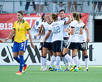 Abby Wambach, Amber Brooks.  The USWNT defeated Brazil, 4-1, at an international friendly at the Florida Citrus Bowl in Orlando, FL.