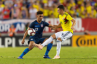 Tampa, FL - Thursday, October 11, 2018: Antonee Robinson, Santiago Arias during a USMNT match against Colombia.  Colombia defeated the USMNT 4-2.