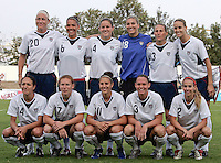 Vila Real de Santo Antonio, PORTUGAL: Starting 11  at the VRS Antonio Stadium in VRS Antonio, March 14, 2007, during the final of Algarve Women´s Cup soccer match between USA and Denmark. USA won 2-0 Paulo Cordeiro/International Sports Images