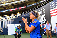 San Diego, CA - Sunday July 30, 2017: Jucinara during a 2017 Tournament of Nations match between the women's national teams of the United States (USA) and Brazil (BRA) at Qualcomm Stadium.