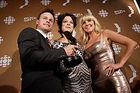 September 16 2012 - Montreal, Quebec, CANADA - Gemeaux Awards Gala - <br /> Louis Morissette,Helene Bourgeois Leclerc , Veronique Cloutier