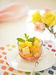 Fruit cup with mango and pineapple.