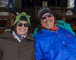 Paula Wegesforth and Tom Moylan enjoy the WinterWonderGrass event on Saturday, April 7, 2018 in Squaw Valley, Ca.