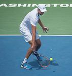 July  22, 2016:  Ivo Karlovic (CRO) defeated Jack Sock (USA) 7-6 , 7-6, at the Citi Open being played at Rock Creek Park Tennis Center in Washington, DC.  ©Leslie Billman/Tennisclix/CSM