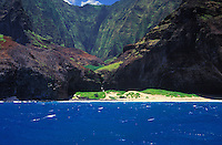 Na Pali coastline on the north shore of Kauai