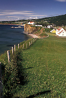 Perce, Gaspe Peninsula, Quebec, Canada, Gulf of St. Lawrence, Scenic view of Perce on the Gulf of St. Lawrence on Gaspe Peninsula in Quebec.