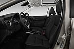 Front seat view of 2017 Toyota Corolla XLE Premium 4 Door Sedan front seat car photos