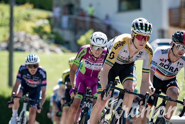 Australian Champion Cameron Meyer (AUS/Mitchelton-Scott) descending from the first climb of the day: the Colle Gallo<br /> <br /> 114th Il Lombardia 2020 (1.UWT)<br /> 1 day race from Bergamo to Como (ITA/231km) <br /> <br /> ©kramon
