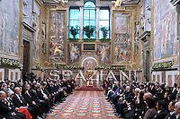 Pope Benedict XVI  during an audience with Vatican's accredited diplomats on January 11, 2010