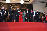 AL GORE WITH HIS WIFE AND SEGOLENE ROYAL - RED CARPET OF THE FILM 'THE KILLING OF A SACRED DEER' AT THE 70TH FESTIVAL OF CANNES 2017 . CANNES, FRANCE, 22/05/2017. # 70EME FESTIVAL DE CANNES - RED CARPET 'MISE A MORT DU CERF SACRE'