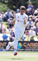 Shaheen Shah Afridi of Pakistan bowls during day one of the second International Test Cricket match between the New Zealand and Pakistan at Hagley Oval in Christchurch, New Zealand on Sunday, 03 January 2021. Photo: Martin Hunter / lintottphoto.co.nz